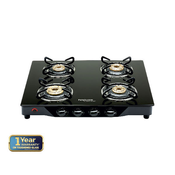 Armo GL 4B AI BLK  Glass Cooktop